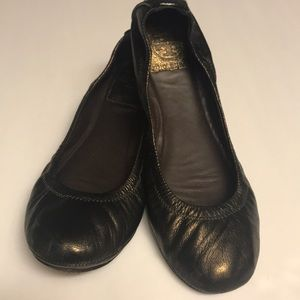 "Tory Burch ""Eddie"" Copper Leather Ballet Flats Sz7"